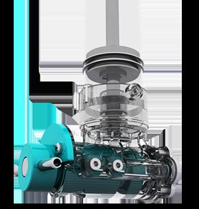 A4 Hummingbird Automatic Dispenser Double Piston Pump